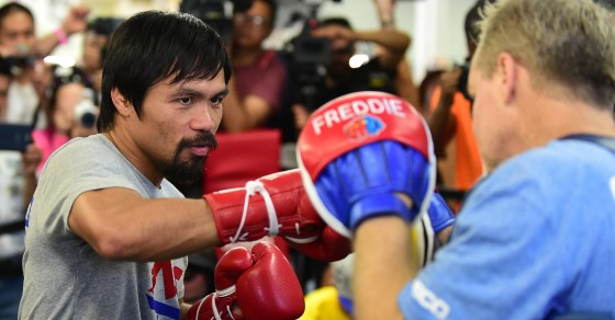 Pacquiao Gets $2.25 Million Just For Putting On His Trunks Next Week