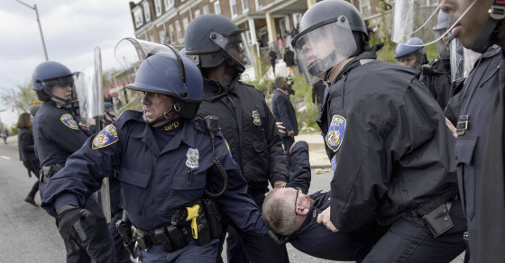 Rioters And Police Clash Violently In Baltimore