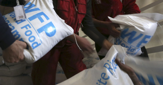 Syrian Army Accused Of Hoarding U.N. Food For Starving Civilians