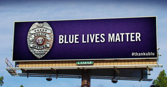 """Blue Lives Matter"" Pops Up On Over 300 Billboards"