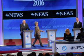 Hillary's Late Entrance Steals The Show At Democratic Debate