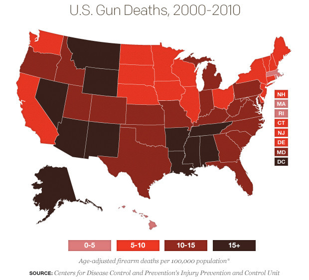 gun deaths map