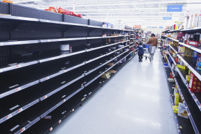 Anxious Shoppers Empty Shelves Ahead Of Major Snowstorm