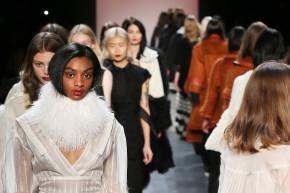 An Ethereal White Dress Wows Crowds At New York Fashion Week