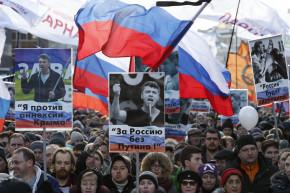 Russia Opposition Rallies In Honor Of Boris Nemtsov