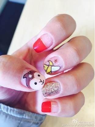 monkey nail art 2