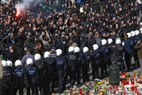 Police, Right-Wing Protesters Clash In Brussels Square