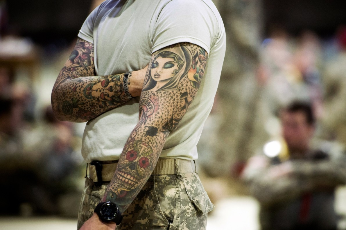 Tattoos and turbans how the military adapts to changing for Army tattoo regulations 2017