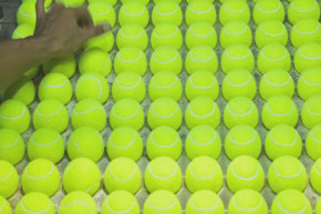Hypnotizing Video Shows How Tennis Balls Are Made