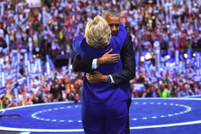 Clinton's Obama Hug Is The 2016 Race's Most Liked Instagram