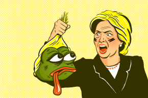 Hillary Clinton Goes To War With Pepe The Frog