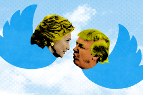 One Place Trump Was Always Leading Clinton? Social Media