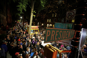 An Election Night Party At The Corner Of President And Clinton