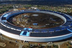 Fly Over Apple's New Solar-Powered Campus