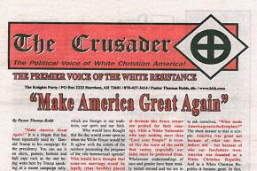 Trump Campaign Calls KKK Newspaper 'Repulsive' After Endorsement
