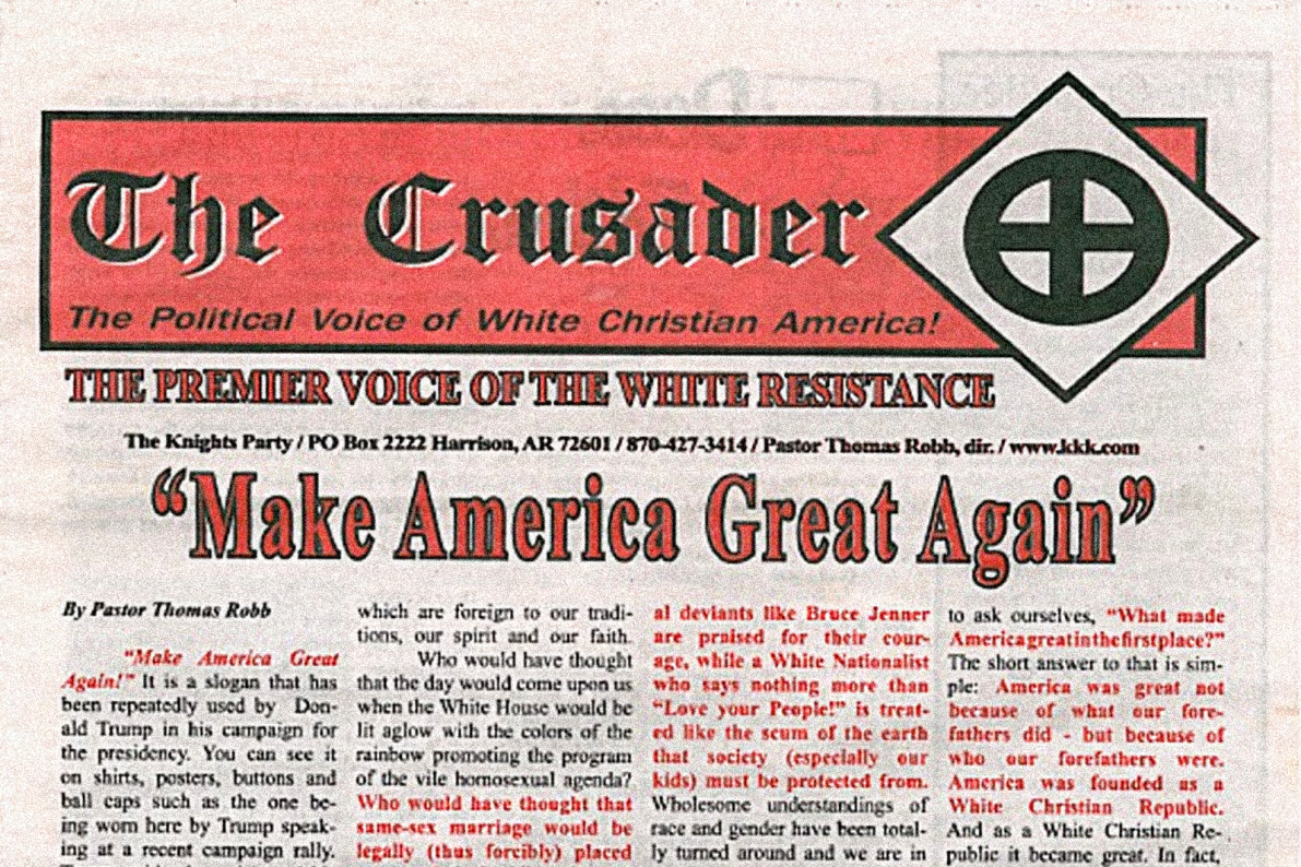 Trump Campaign Calls KKK Newspaper 'Repulsive' After Endorsement - Vocativ