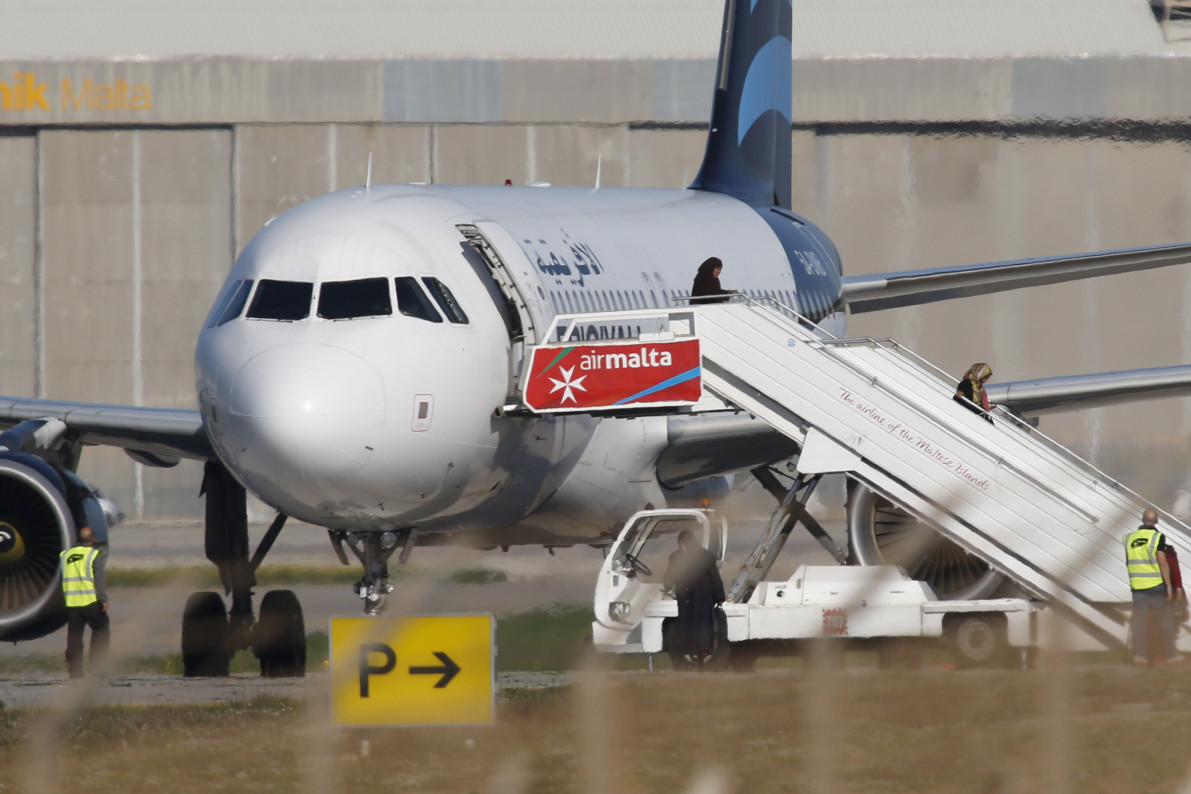 'Potentially hijacked' Libyan plane lands in Malta