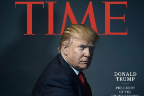 The Devil Is In The Detail: Trump Sports Horns In 'Time' Cover Photo
