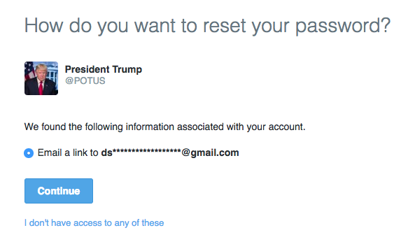 @POTUS and Other White Houses Twitter Accounts Insecurely Tied to Gmail Addresses