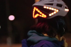They Put Turn Signals On A Bike Helmet