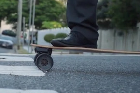 This Electric Skateboard Charges As You Brake