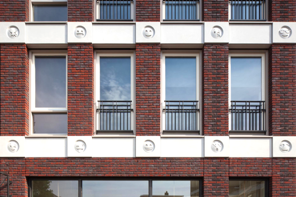 This architect embellished a building with emoji ornament