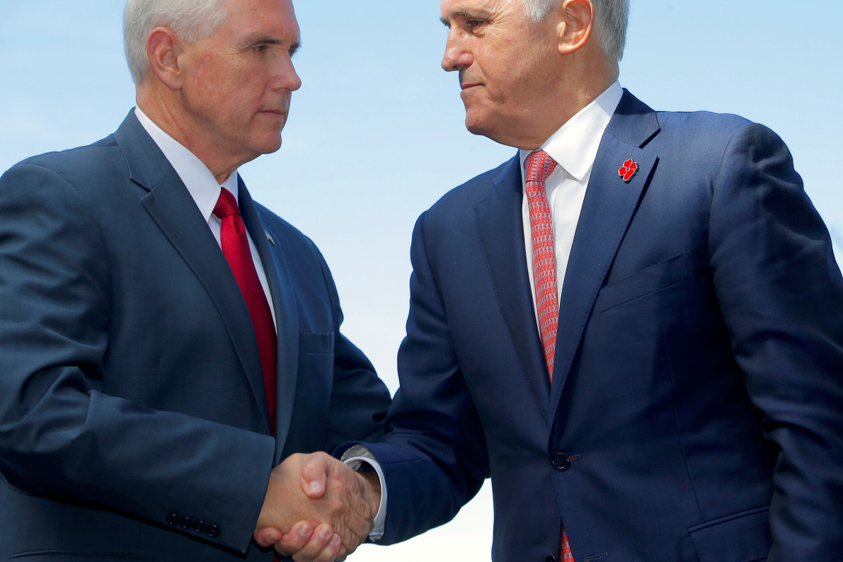Cosgrove tells Pence of deep US-Aust ties