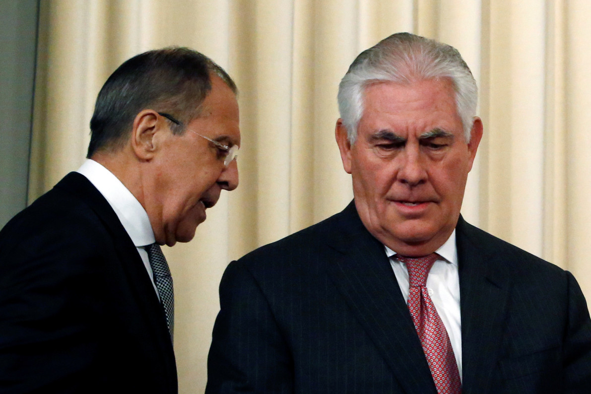 Russia's Foreign Minister Rips Trump as Tillerson Talks Begin