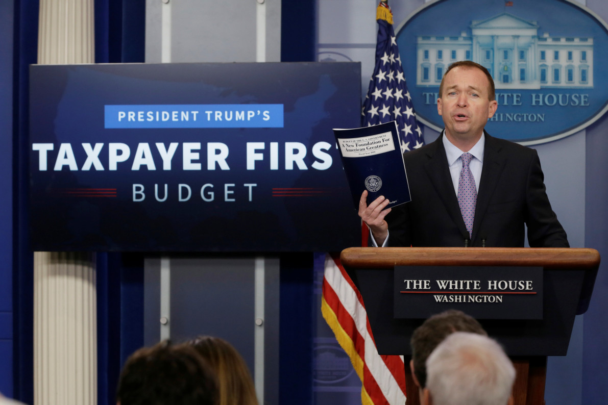 Trump unveils first budget with $3.6-trillion spending cut