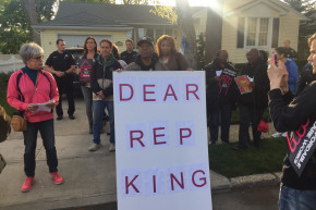 Trumpcare Protesters Take Their Message To GOP Rep's House