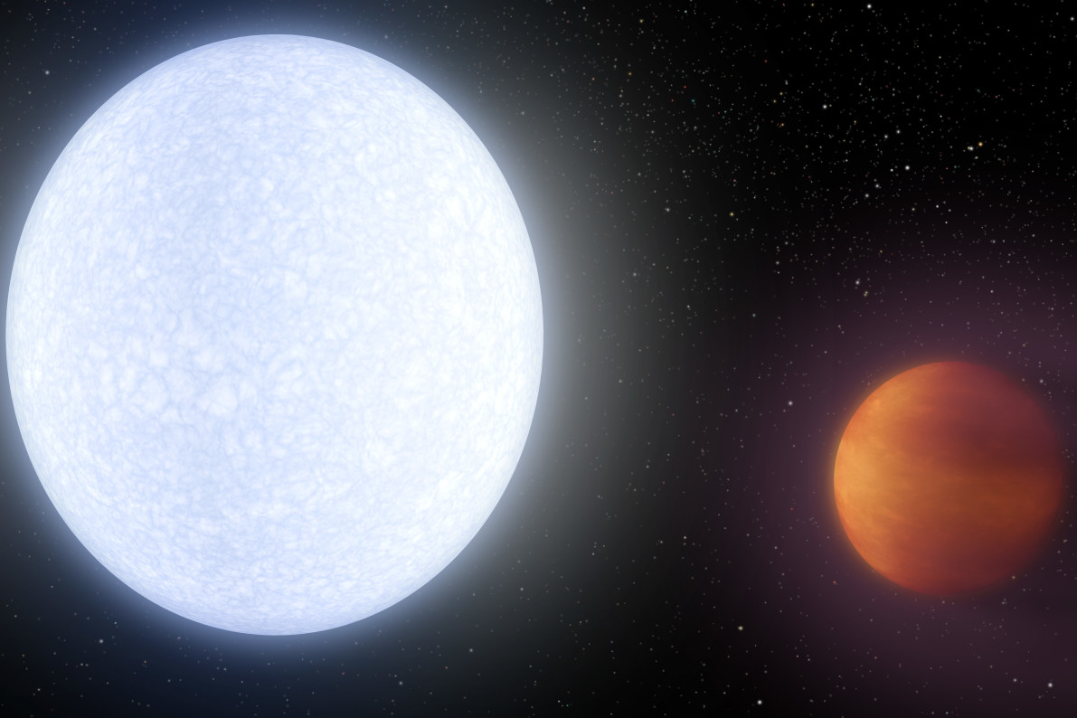 Newly-discovered extremely hot planet may have comet-like tail