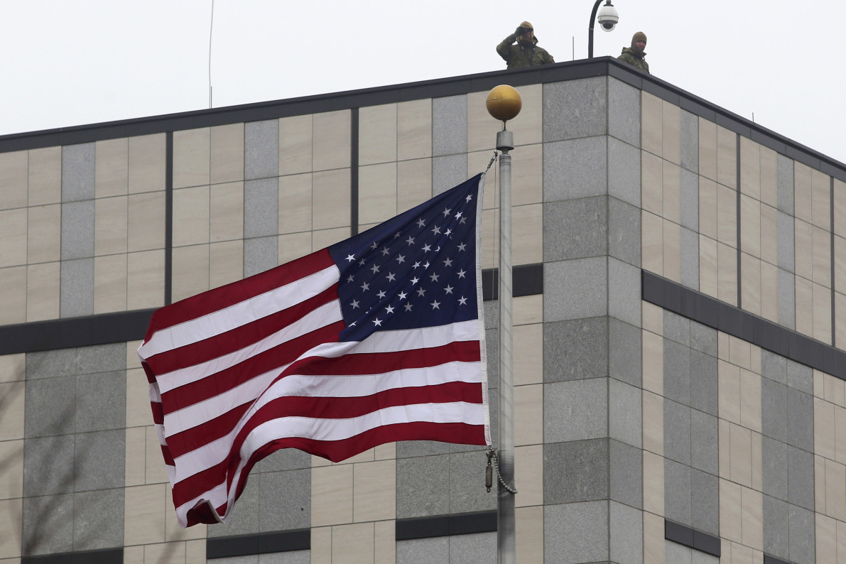 Explosive devices goes off at US embassy in Kiev