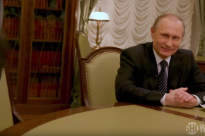 Putin Laughs In The Face Of Western Press And Is Cheered At Home