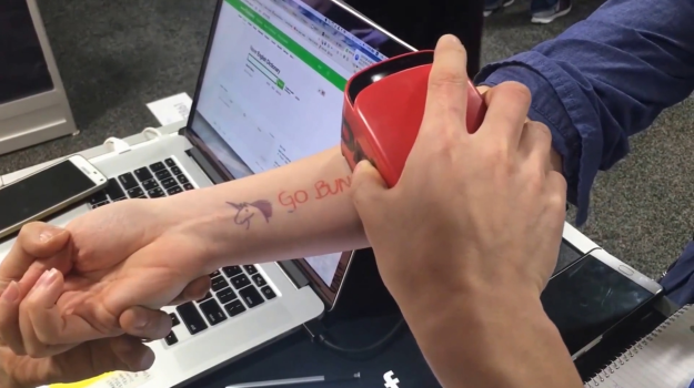 Prinker prints temporary tattoos directly onto your skin for Temporary tattoo printer