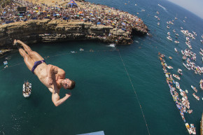 These Cliff Divers Plunge 90 Feet Into The Sea