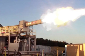The Navy's Experimental Railgun Fires At 4,500 MPH