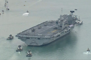 This Is The British Navy's Biggest Aircraft Carrier