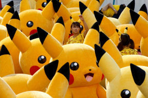 Hundreds Of Pikachus Parade Down Japanese Street