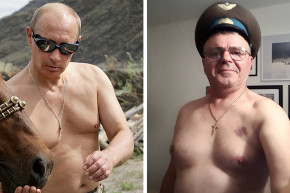 Russians Strip Down For #PutinShirtlessChallenge