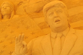 There's A Trump Sand Sculpture At This Japanese Museum