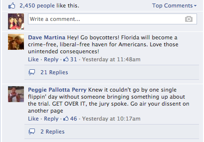 Boycott Florida Facebook screenshot 2