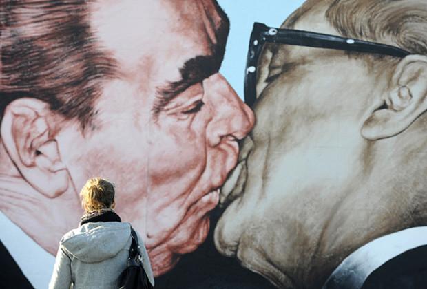 Russian Kissing Mural