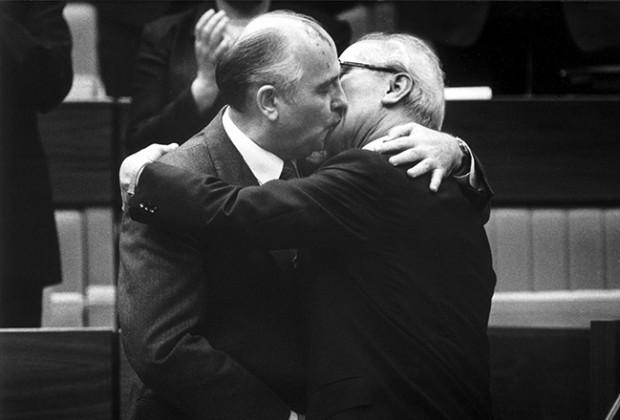 Russians Kissing Gorbachev