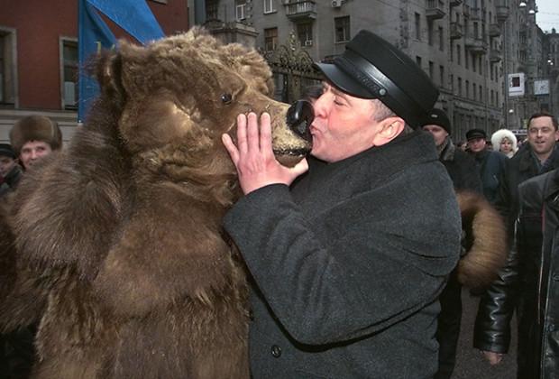 Russians Kissing Zhirinovsky
