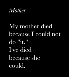 Sara Anne Jones Poem Mother