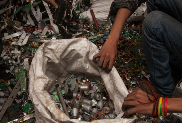 New Delhi: India: 2013 Delhi recycles as much as 30,000 tonnes of printers, computers and other electronics scrap from all over the world every year.