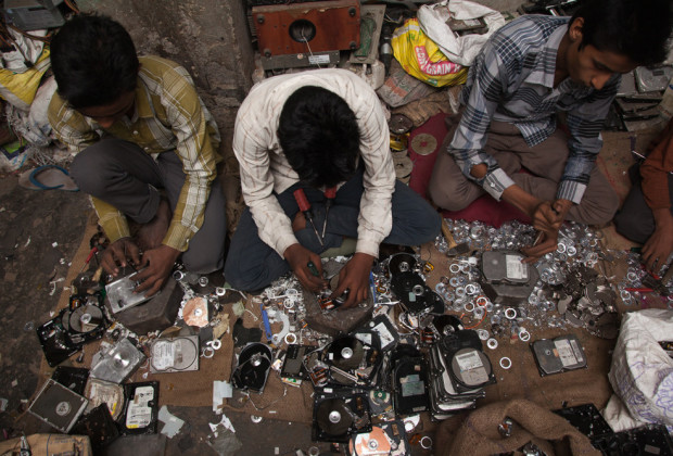 New Delhi: India: 2013 Mansoori sat cross-legged on the floor, with three other boys -- aged 12, 16 and 18 – they make a couple of dollars a day for stripping about 1,000 components