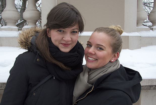 Jule Müller, left, and Anni Kralisch-Pehlke, right, are the founders and owners of a new dating site taking Germany's capital by storm.