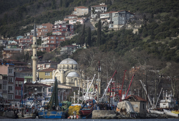 A view of Rumeli Kavagi, a fishing ports in the Sariyer district of Istanbul, near the area where the Third Bosphorus Bridge will soon span the Bosphorus. PHOTO BY JODI HILTON/VOCATIV