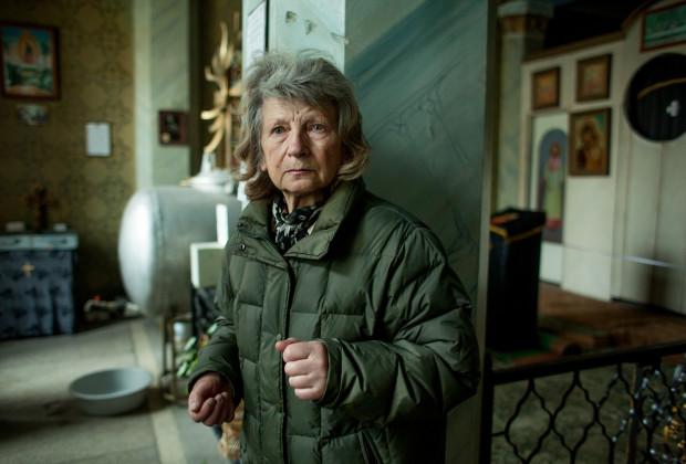 Simferolpol, Crimea 2014 Marian Sophia Kovalova in the only Ukrainian church in Simferopol.
